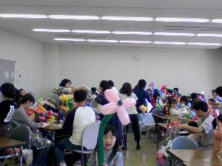 [ 教室 ]バルーン教室 春江図書館にて